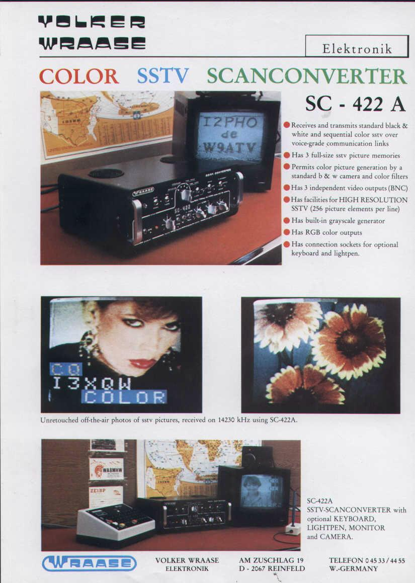 WRAASE electronic SC-422A SSTV-Converter